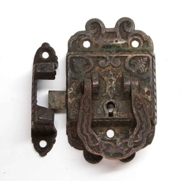 Ice Box Hardware - Antique Bronze Left Side Ice Box Latch