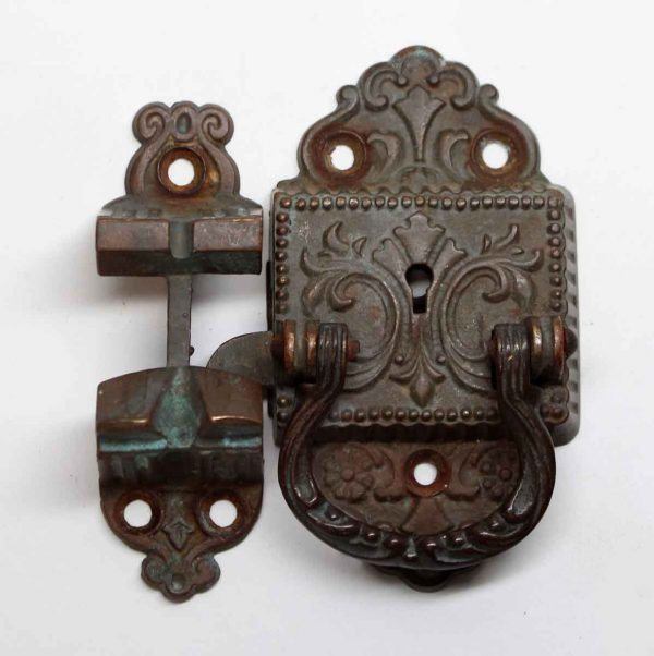 Ice Box Hardware - Dark Bronze Antique Victorian Ice Box Latch