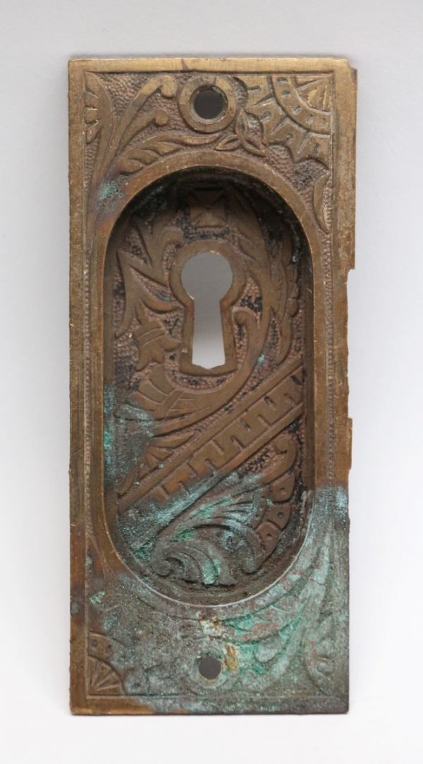 Pocket Door Hardware - Bronze Pocket Door Plate