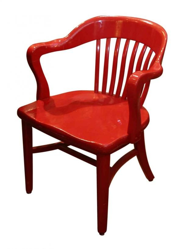 Seating - Glossy Red Banker Chair
