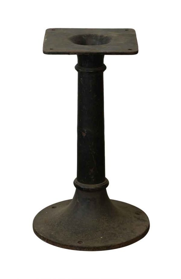 Table Bases - Black Cast Iron Pedestal Base with Nice Simple Design