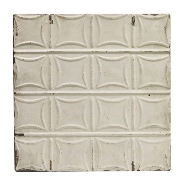 Tin Panels - Antique White Curved Squares Tin Ceiling Panel