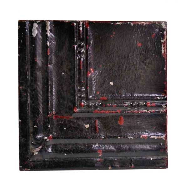 Tin Panels - Black Corner Antique Tin Ceiling Panel