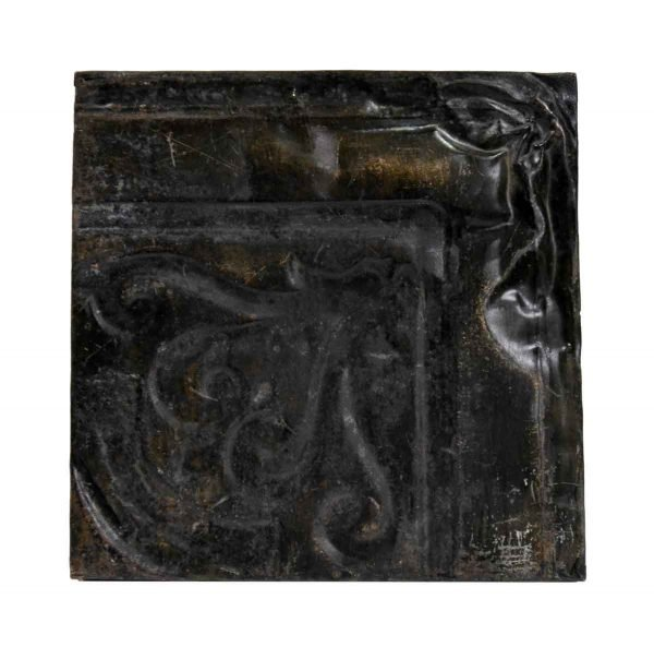 Tin Panels - Corner Brown Swirl Antique Tin Panel