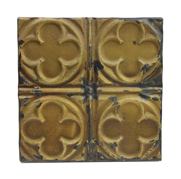 Tin Panels - Dark Tan Quadrant Clover Antique Tin Panel
