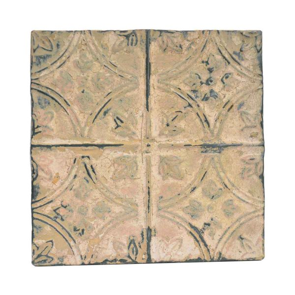 Tin Panels - Diamond Tulip Tan Antique Tin Panel