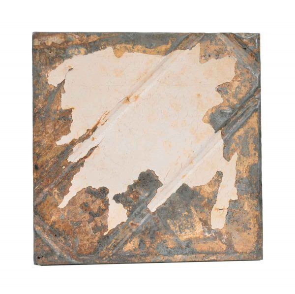Tin Panels - Distressed White & Tan Antique Tin Panel
