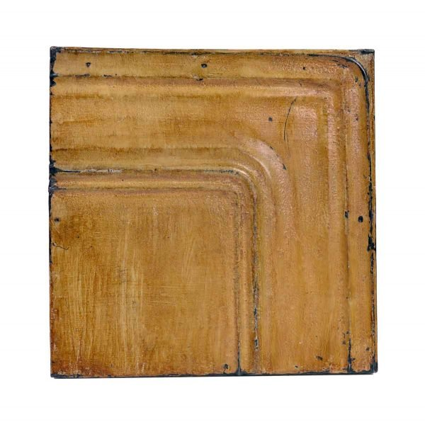 Tin Panels - Rounded Corner Tan Antique Tin Panel