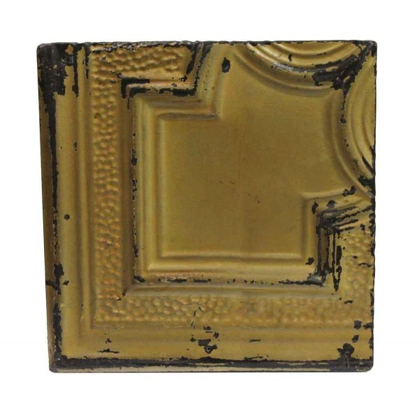 Tin Panels - Tan Corner Antique Tin Ceiling Panel