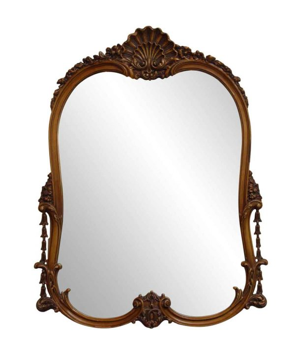 Antique Mirrors - Antique Floral Wall Mount Mirror