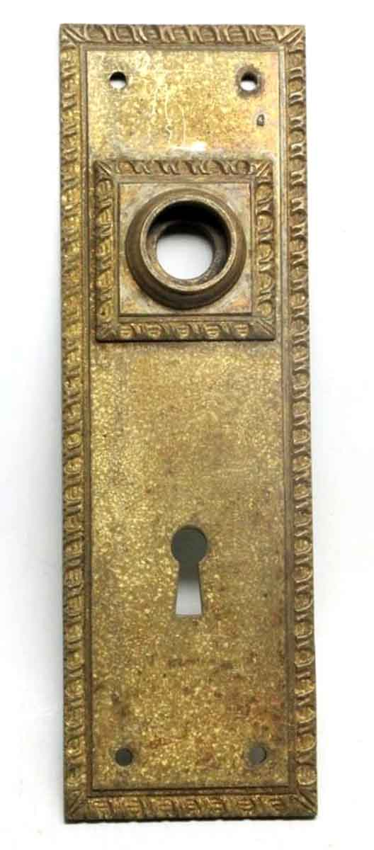 Back Plates - Antique Bronze Back Plates with Keyhole