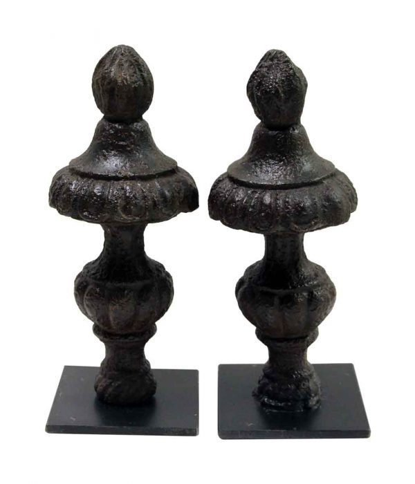 Book Ends - Pair of Cast Iron Finial Bookends