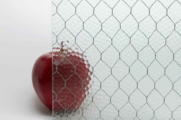 Chicken Wire Glass - Antique Pebbled Vintage Chicken Wire Glass
