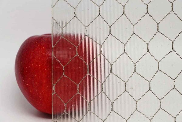 Chicken Wire Glass - Ribbed Texture Vintage Chicken Wire Glass