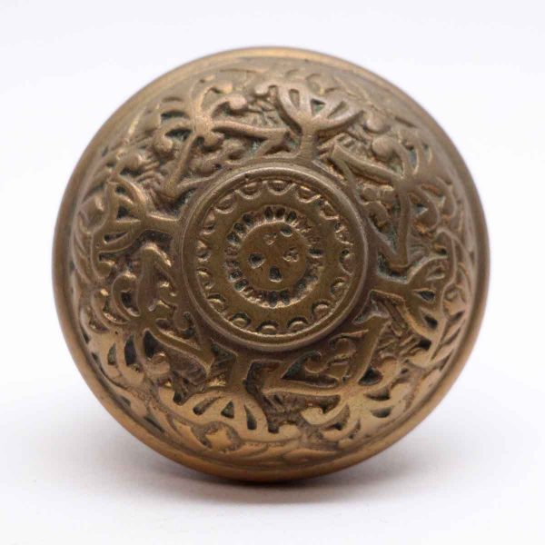 Door Knobs - Antique 4 Fold Bronze Entry Door Knob