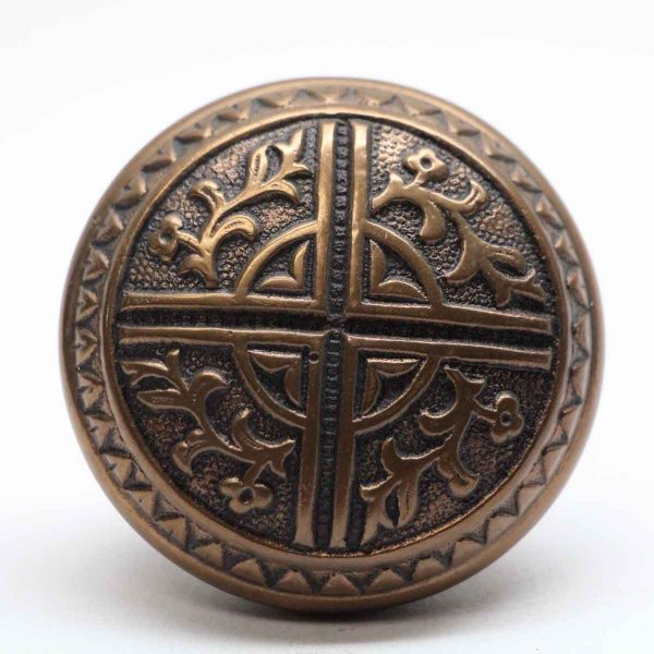 Door Knobs - Antique Bronze 4 Fold Vernacular Door Knob