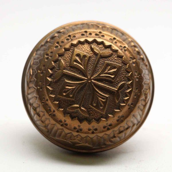 Door Knobs - Bronze Four Fold Vernacular Door Knob