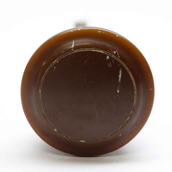 Door Knobs - Brown Bakelite Door Knob with Brass Shank