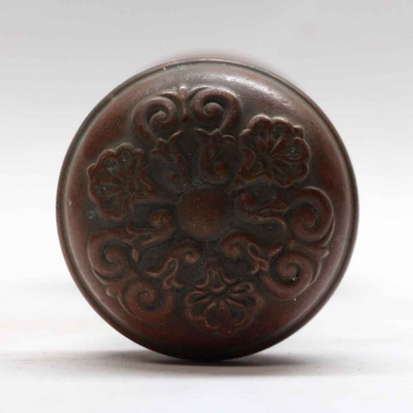 Door Knobs - Sargent Italian Renaissance Door Knob Set with Copper Patina