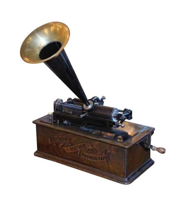 Electronics - 1903-04 Edison Long Case Working Home Phonograph