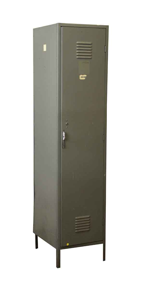 Industrial - Vintage Gray Metal Locker