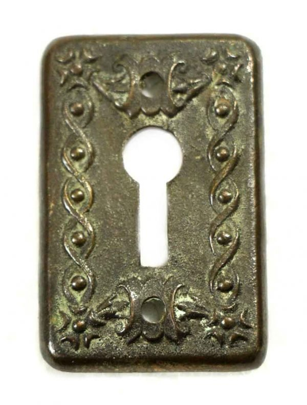 Keyhole Covers - Antique Cast Brass Key Hole Cover