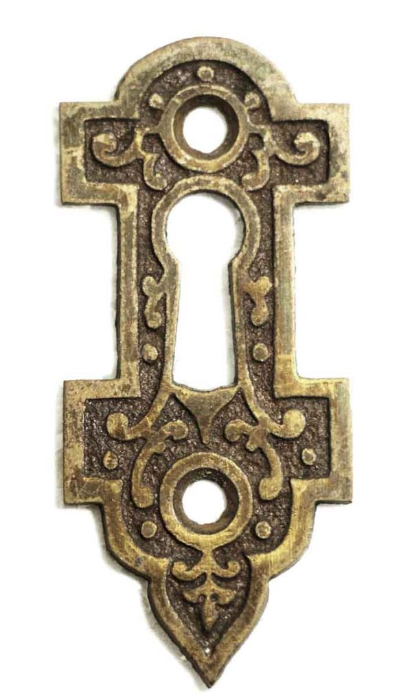 Keyhole Covers - Antique Victorian Ornate Key Hole Cover