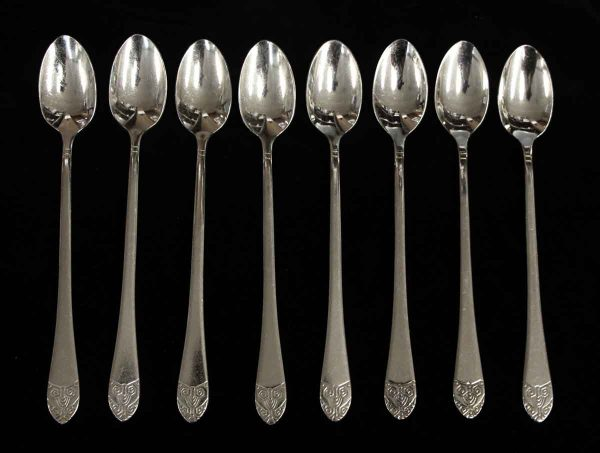 Kitchen - Salvaged Waldorf Art Deco 8 Piece Iced Tea Spoon Set