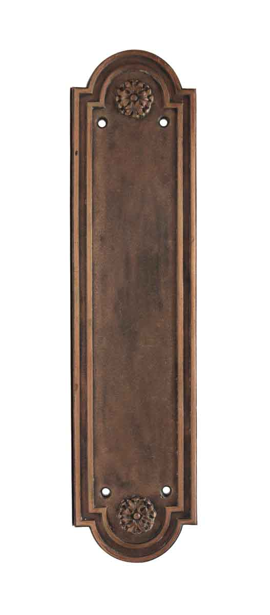 Push Plates - Louis XVI Copper Finish Russwin Door Push Plate