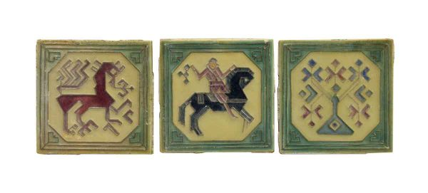Wall Tiles - Set of Pictorial Aztec Style Tiles