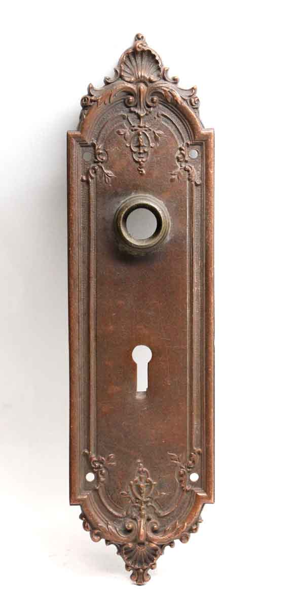 Back Plates - Antique Sargent French Bronze Door Back Plate