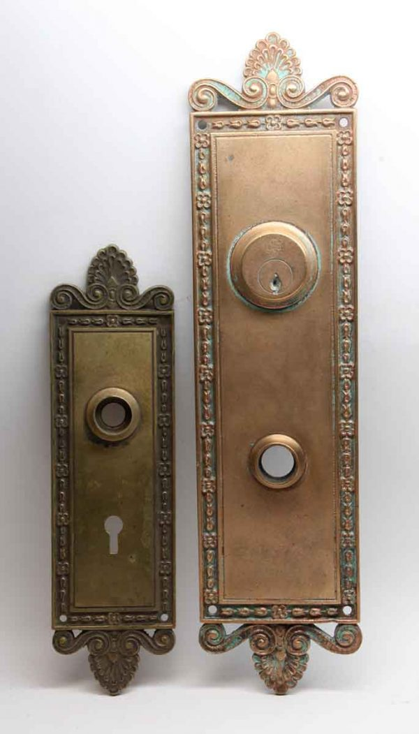 Back Plates - Neoclassical Bronze Entry Back Plate Set