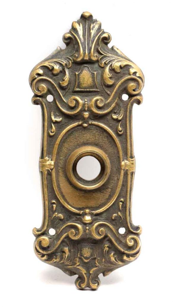 Back Plates - Small Bronze Victorian Door Back Plate