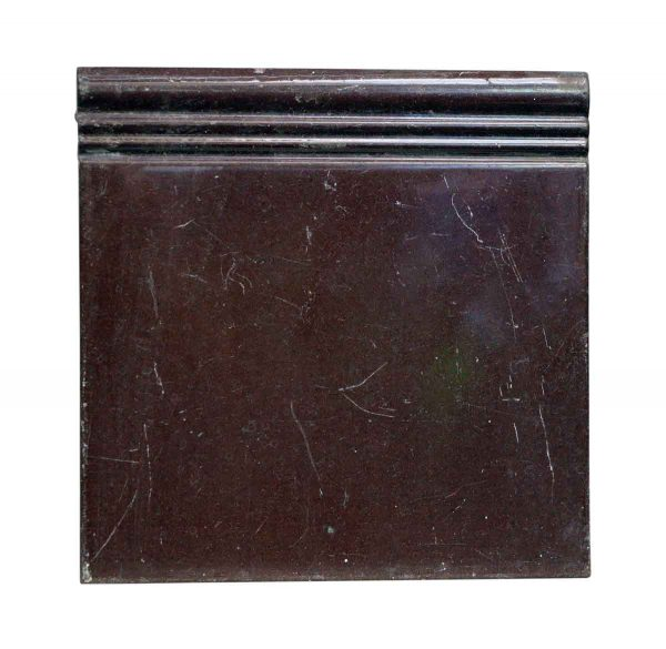 Bull Nose & Cap Tiles - Plain Brown Wall Baseboard Tile