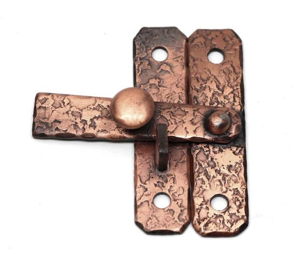 Cabinet & Furniture Hinges - T Cabinet Latch with Textured Copper Finish