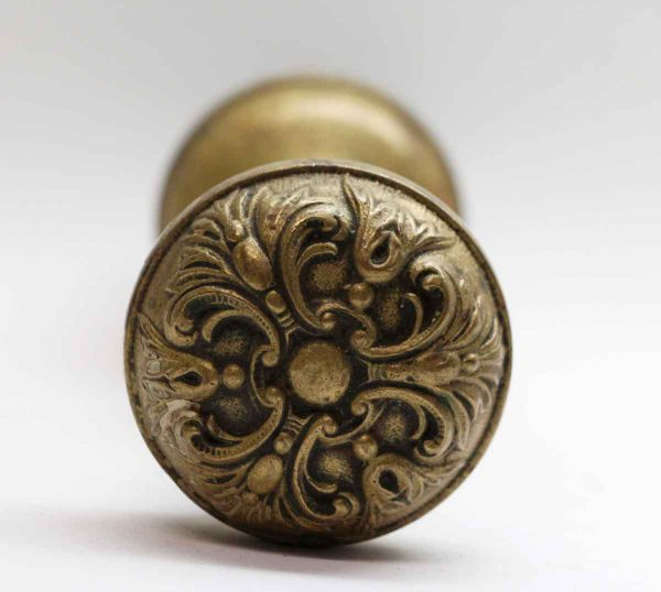 Door Knobs - Pair of Cast Brass German Renaissance Barrows Door Knobs