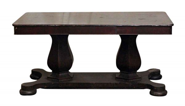 Kitchen & Dining - Salvaged Dark Wood Traditional Style Dining Room Table