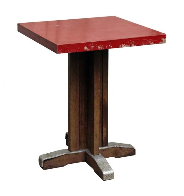 Kitchen & Dining - Vintage Red Square Top Table