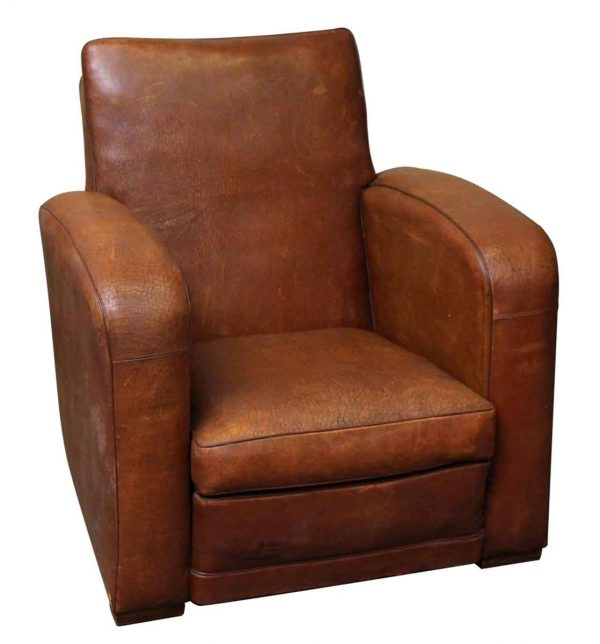 Living Room - Deco French Leather Club Chair