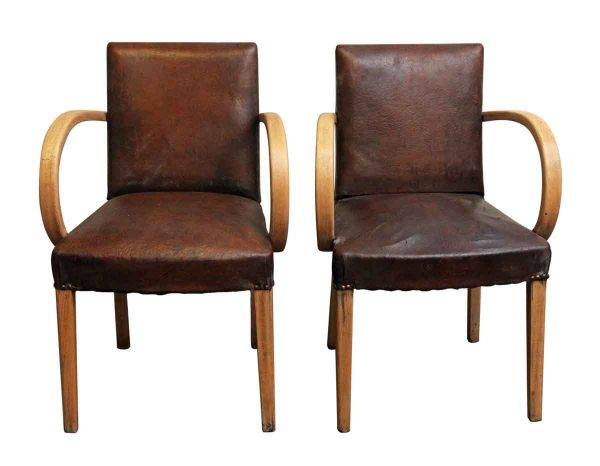 Living Room - Pair of European Bridge Chairs with Light Wood Frame