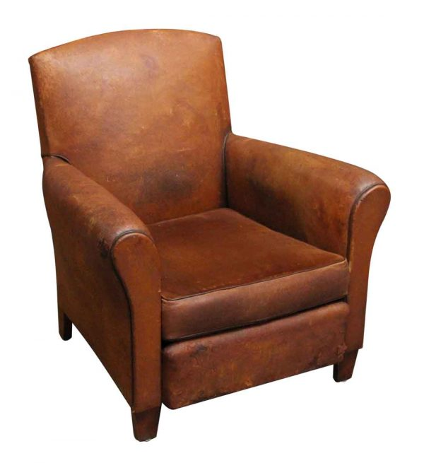 Living Room - Single Leather Vintage European Imported Chair