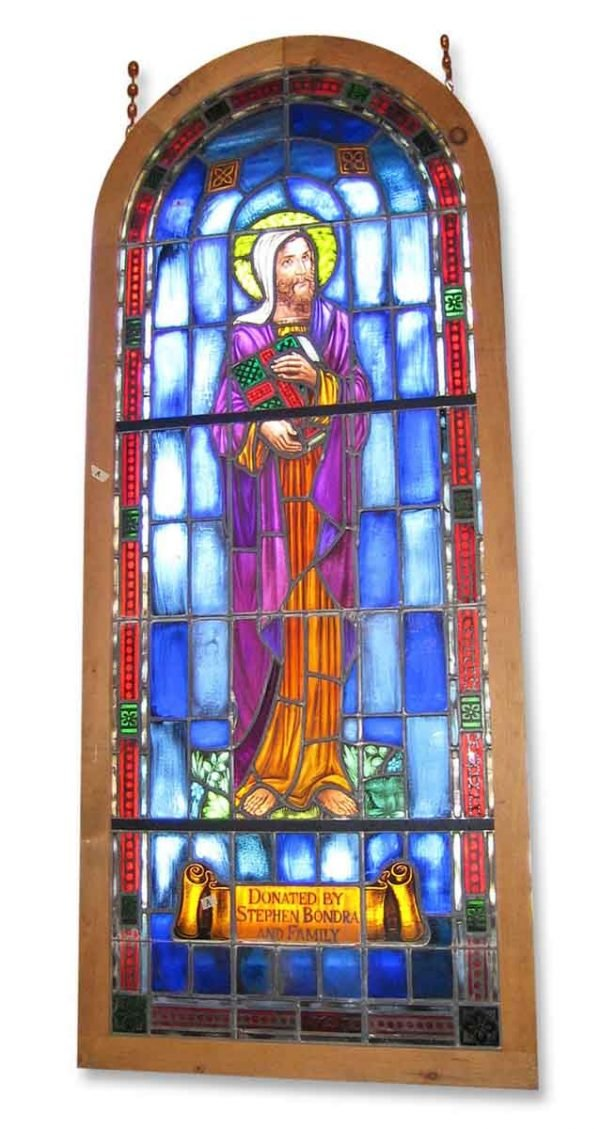 Religious Stained Glass - Byzantine Stained Glass of the Apostle John
