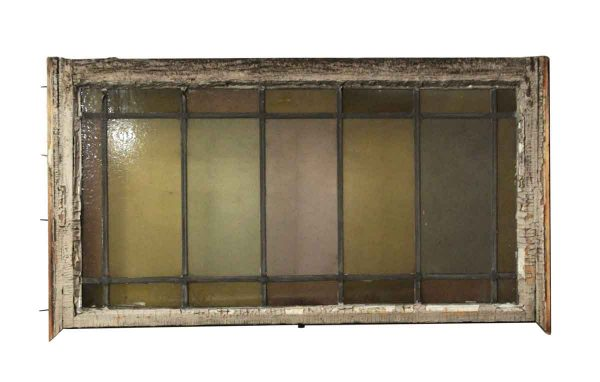 Stained Glass - Reclaimed Pastel Stained Glass Rectangular Window