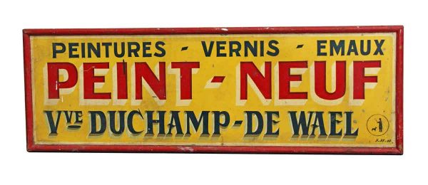 Vintage Signs - 1950s French Advertising Peint Neuf Sign