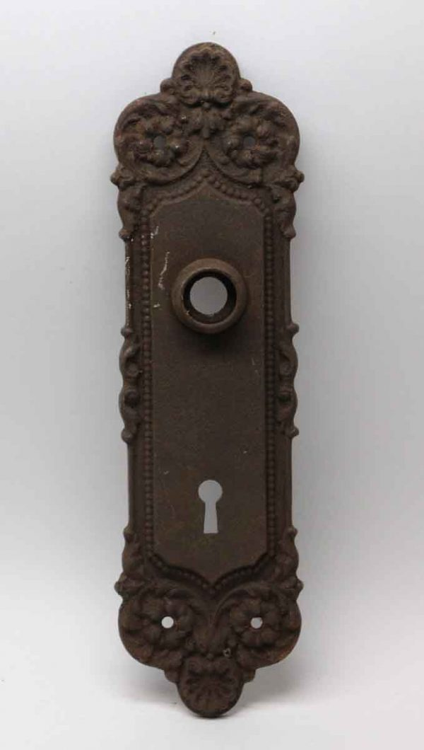 Back Plates - Beaded Cast Iron Neoclassical Door Plate
