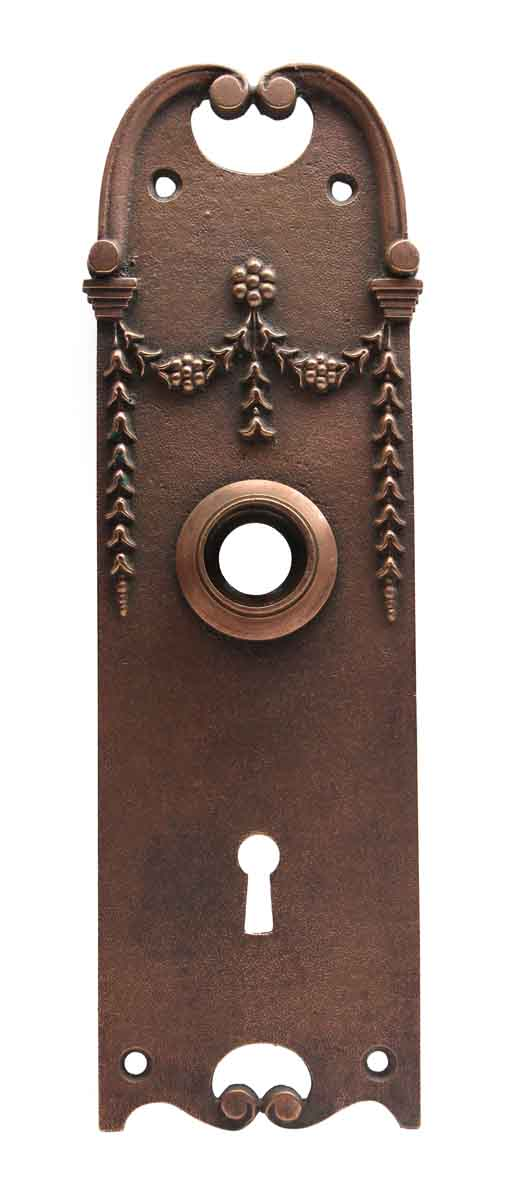 Back Plates - Copper Plated Bronze Victorian Door Back Plate