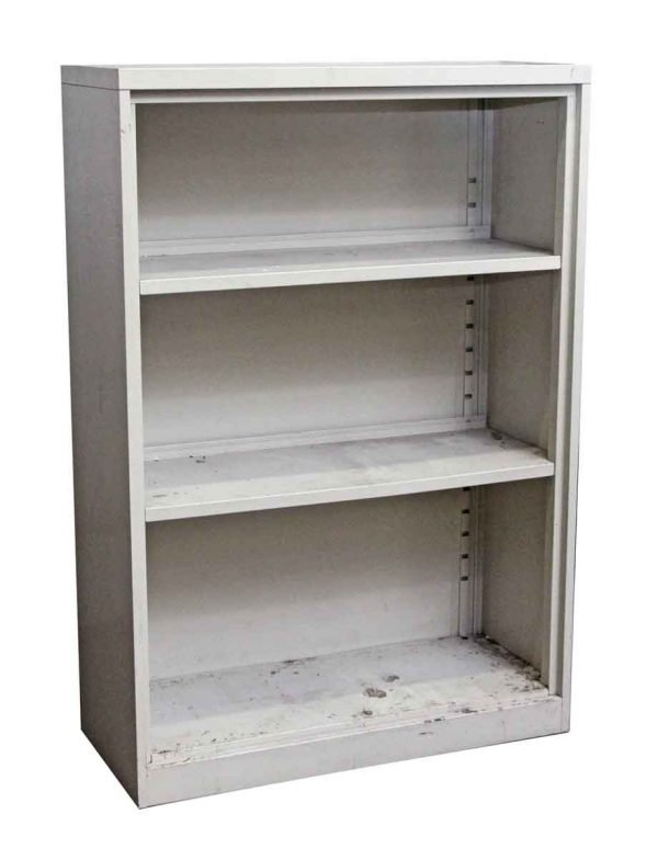 Bookcases - Salvaged Off White Steel Bookcase