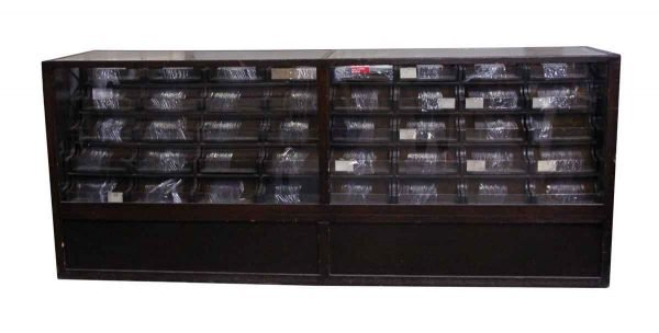 Commercial Furniture - Handmade Wooden Showcase with Multiple Drawers
