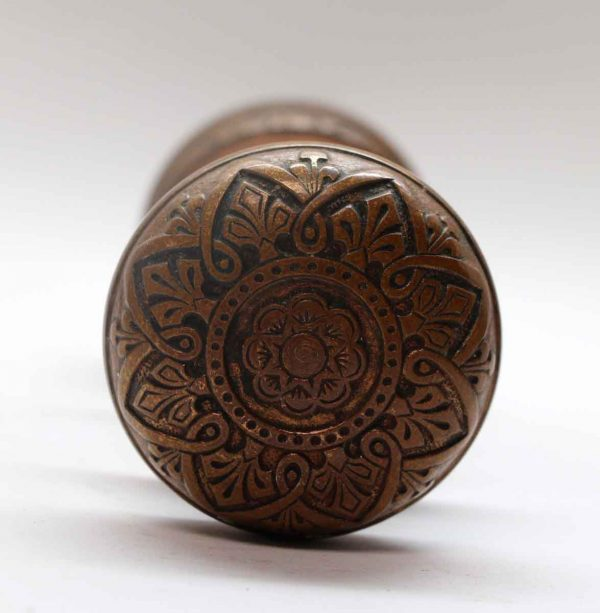 Door Knob Sets - Antique Russell & Erwin Classic Bronze Door Knob Set