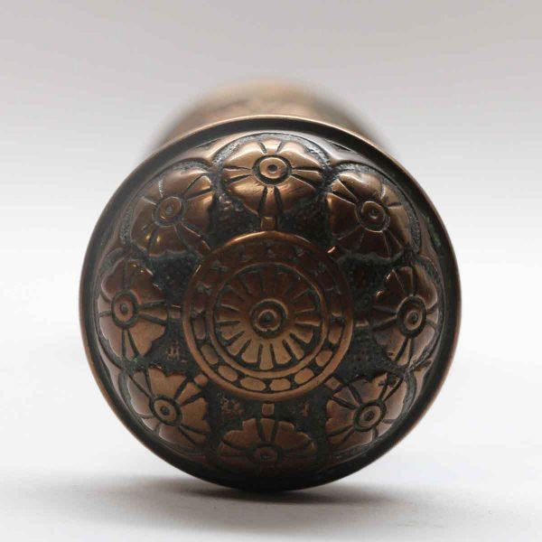 Door Knobs - Antique Bronze Eight Fold Vernacular Door Knob Set